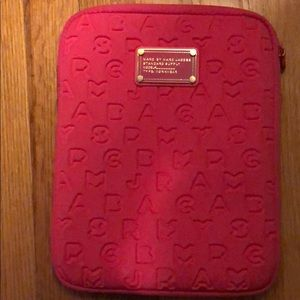 Marc Jacobs hot pink iPad case